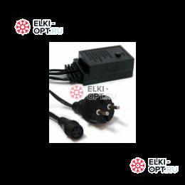 Контроллер на 8 программ и шнур подключения для электрогирлянд 1,5 М (черный)