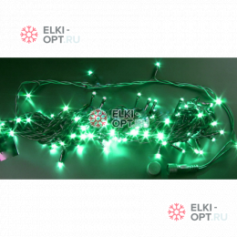 Светодиодная гирлянда  Rich LED нить 20 М, зеленая, 220В, подключается контроллер