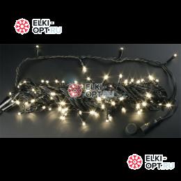 Светодиодная гирлянда  Rich LED нить 20 М, теплый белый, 220В, подключается контроллер