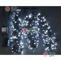 Светодиодная гирлянда Rich LED 3 нити по 20 м с контр., белая