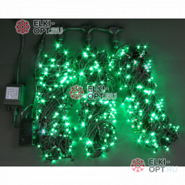 Светодиодная гирлянда Rich LED 3 нити по 20 м с контр., зеленая