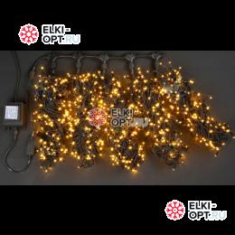 Светодиодная гирлянда Rich LED 5 нитей по 20 м желтый