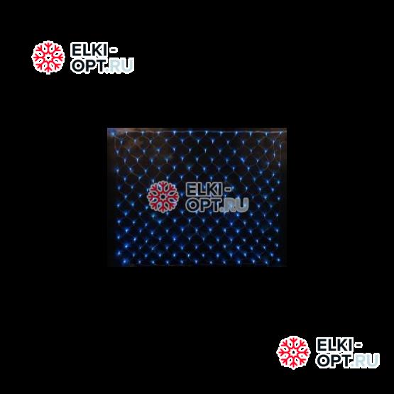 Светодиодная сетка RICH LED с контроллером 2*1.5м, прозрачный провод, синий
