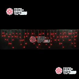 Светодиодная бахрома RICH LED (3х0.5 м) черный пров. цвет красный