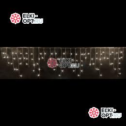 Светодиодная бахрома RICH LED (3х0.5 м) прозр.пров. тёплый белый