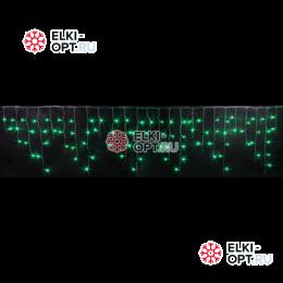 Светодиодная мерцающая бахрома RICH LED (3х0,9 м) прозрачный провод, цвет зеленый