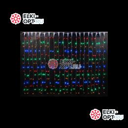 Светодиодный дождь RICH LED (2х1.5 м) прозр. пров. мультицвет
