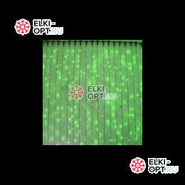 Светодиодный дождь RICH LED (2х1.5 м) прозр. пров. зеленый
