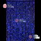 Светодиодный дождь RICH LED (2х1.5 м) прозр.пров. цвет синий + белый