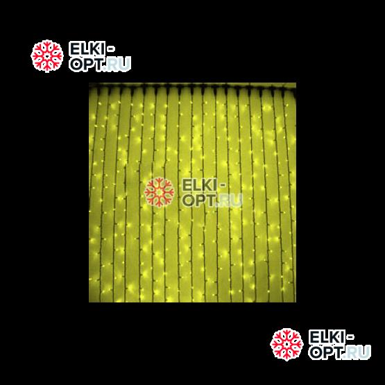 Светодиодный дождь RICH LED (2х3 м) прозр.пров. желтый