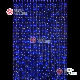 Светодиодный дождь RICH LED (2х3 м) прозр.пров. цвет синий + белый
