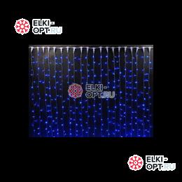 Светодиодный дождь RICH LED (2х6 м) черный провод цвет синий