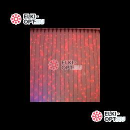 Светодиодный дождь Rich LED 2х9м провод прозрачный, цвет красный