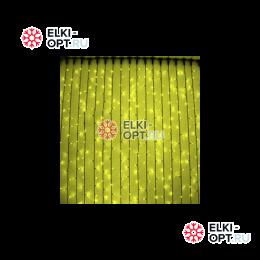 Светодиодный дождь Rich LED 2х9м провод прозрачный, цвет желтый