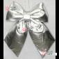Бант блестящий 30см цвет серебро