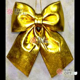 Бант блестящий 30 см цвет золото