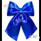 Бант блестящий 30см цвет синий
