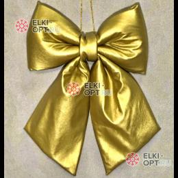 Бант  эко-кожа 30см цвет золото