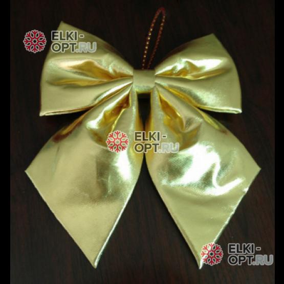 Бант блестящий 60 см цвет золото