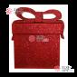 Подарочная коробочка для декора 3D 23х23см цвет красный