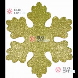Снежинка ИСКРА d-16 см  цвет золотой ( 5шт уп.)