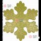 Снежинка Искра d-16 см цвет золотой ( 5шт/уп.)