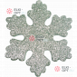 Снежинка Искра d-16 см цвет серебряный ( 5шт/уп.)