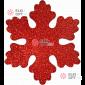 Снежинка Искра d-16 см цвет красный ( 5шт/уп.)
