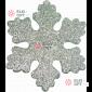 Снежинка ИСКРА d-20 см цвет серебряный ( 5шт уп.)