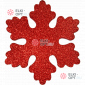 Снежинка Искра d-20 см цвет красный ( 5шт/уп.)