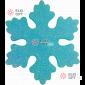 Снежинка ИСКРА d-20 см цвет голубой