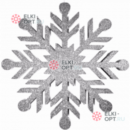 Снежинка Резная d-30 см цвет серебряный