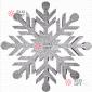 Снежинка Резная d-30 см цвет синий (1шт/уп)