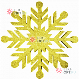 Снежинка Резная d-30 см цвет золотой