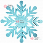 Снежинка Резная d-30см цвет голубой