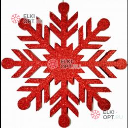 Снежинка Резная d-30см цвет красный