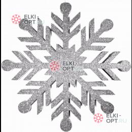 Снежинка Резная d-40см цвет серебряный