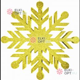 Снежинка Резная d-40см цвет золотой