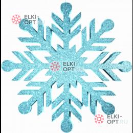 Снежинка Резная d-40см цвет голубой