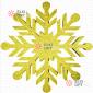 Снежинка Резная d-50см цвет золотой