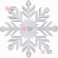 Снежинка Резная d-50см цвет белый (1шт/уп)