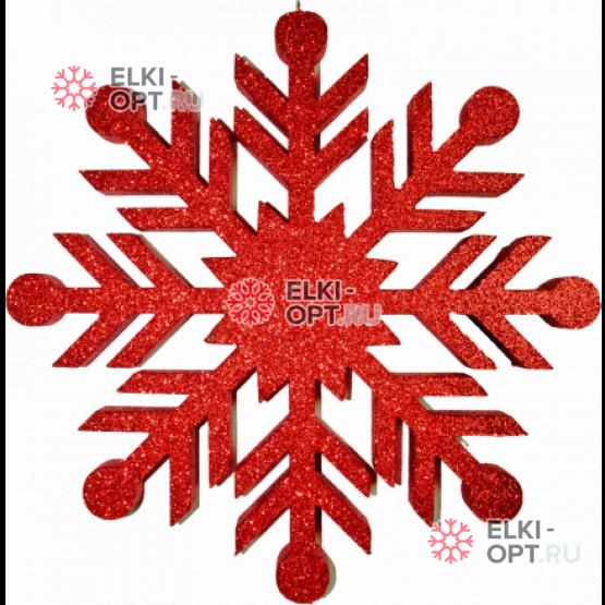 Снежинка Резная d-60см цвет красный
