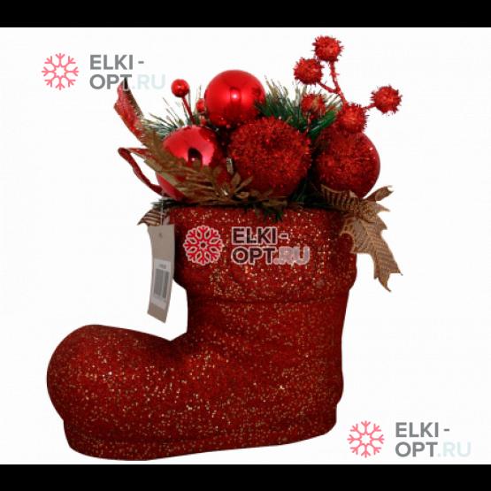 Декоративное украшение Рождественский сапожок цвет красный 25см , 8шт х 600руб