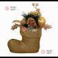 Декоративное украшение Рождественский сапожок  цвет золотой 25см , 8шт х 600руб