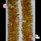 Мишура новогодняя Сибирская d-10см цвет золото длина 2м (упак.10шт)