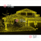 Светодиодная бахрома 3х0,5м цвет желтый 20шт х1020руб прозрачный провод