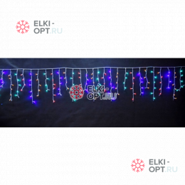 Светодиодная бахрома 3х0,6м цвет мульти 150 LED 20шт х1190 руб прозрачный провод