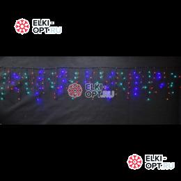 Светодиодная бахрома 3х0,6м цвет мульти 150 LED 20шт х1190 руб черный провод