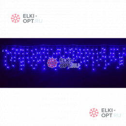 Светодиодная бахрома 3х0,6м цвет синий 150 LED 20шт х1190 руб прозрачный провод