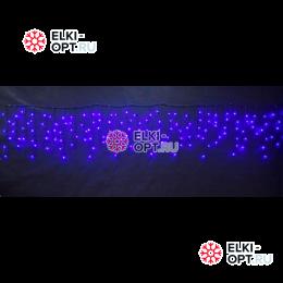 Светодиодная бахрома 3х0,6м цвет синий 150 LED 20шт х1190 руб черный провод